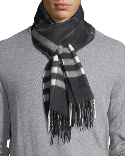 Giant Check Cashmere Scarf