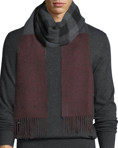 Reversible Mega Check Cashmere Scarf