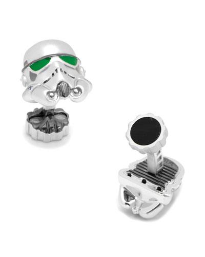 3D Star Wars Stormtrooper Cuff Links