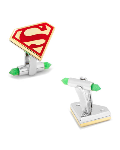 3D Gold-Plated Superman Cuff Links