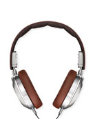 Men's Leather Over-Ear Headphones, Brown