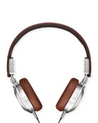 Men's Leather On-Ear Headphones, Brown