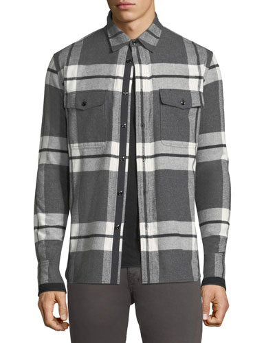 Men's Jack Brushed Flannel Shirt Jacket