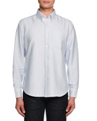 Tailored-Fit Oxford Sport Shirt, Blue