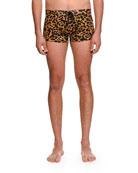 Leopard-Print Swim Shorts