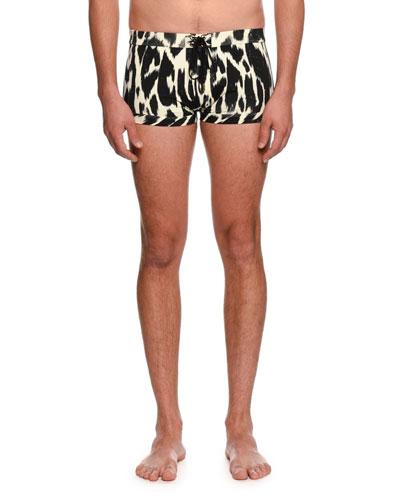 Graphic-Print Tiny Swim Shorts