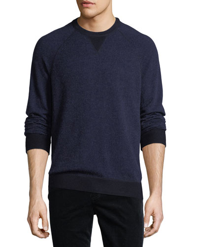 Cashmere-Blend Birdseye-Knit Sweater