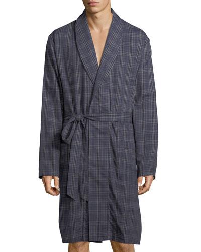 Fynn Woven Plaid Robe