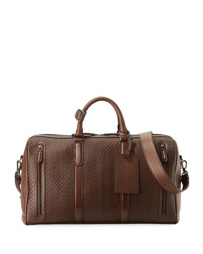 Hold-All 55 Pelle Tessuta Weekender Bag