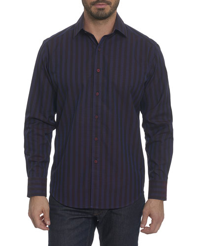 Fort Crown Grid-Print Sport Shirt
