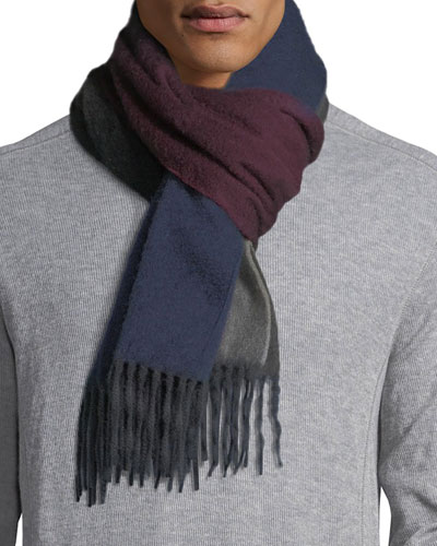 Reversible Ombre Scarf w/ Fringe