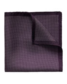 Polka-Dot Silk Pocket Square, Purple