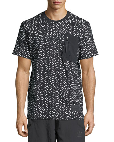 NMD Dot-Print T-Shirt w/ Zip Pocket