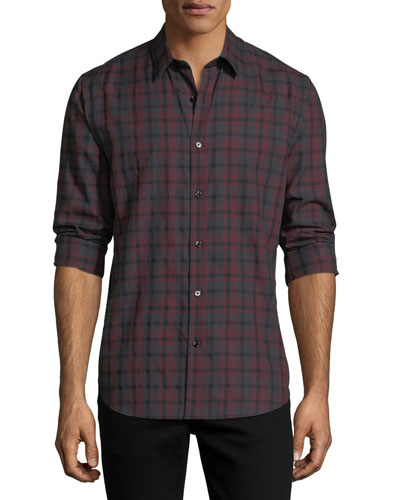 Clean Placket Check Shirt