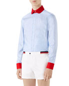 Oxford Striped Tailored Formal Shirt