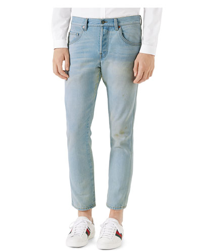 5-Pocket Tapered Denim Pants