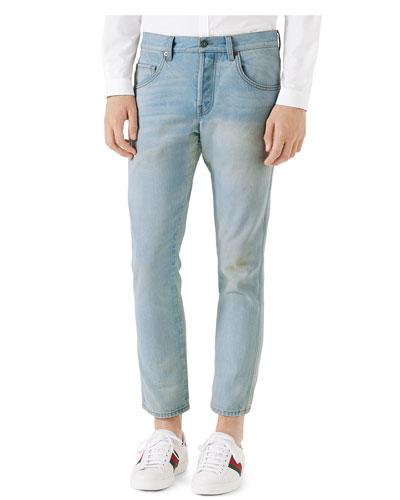 5-Pocket Tapered Denim Pants