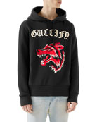 Wolf Head Hooded Sweatshirt