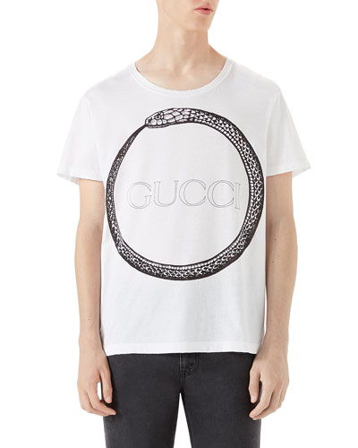 Ouroboros-Print T-Shirt