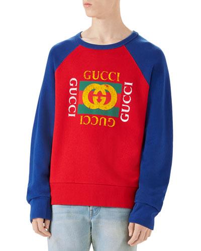 Logo-Front Crewneck Sweatshirt