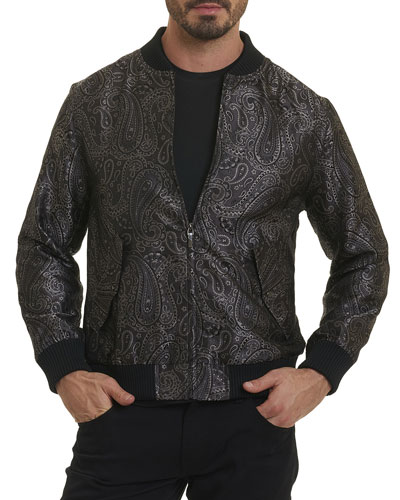 Ausable Paisley Silk Bomber Jacket
