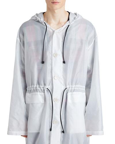 Hooded Textured Lightweight Parka