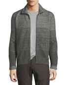 Gradient Cotton Track Jacket