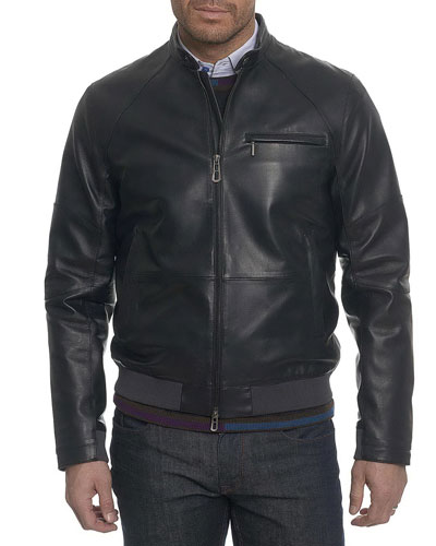 Massena Leather Bomber Jacket