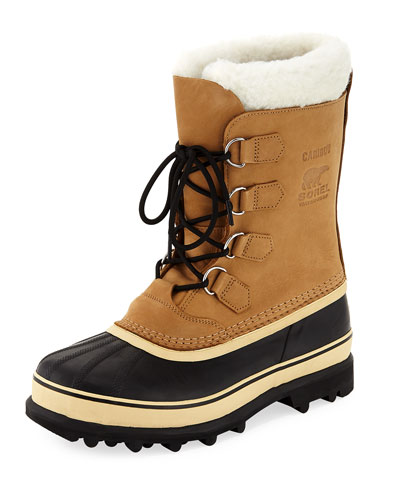 Men's Caribou Shearling-Lined All Weather Waterproof Duck Boot