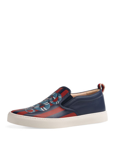 Dublin King Snake Leather Slip-On Sneaker