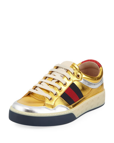 MORE RETRO LEATHER TRAINERS