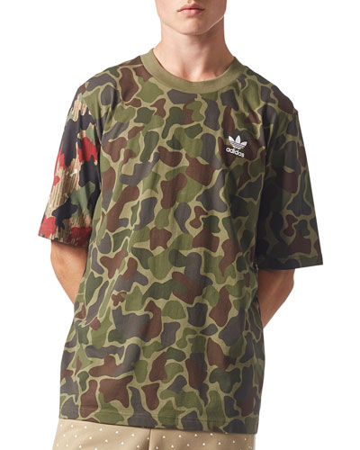 Camouflage-Print Boxy T-Shirt