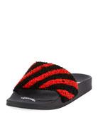 Fly Striped Knit Slide Sandal