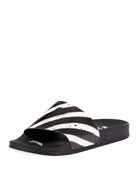 Spray Striped Slide Sandal