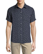 Palm-fetti Print Short-Sleeve Sport Shirt