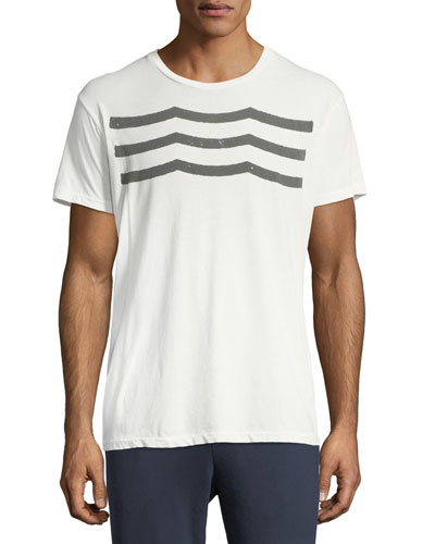 Waves Graphic Cotton T-Shirt