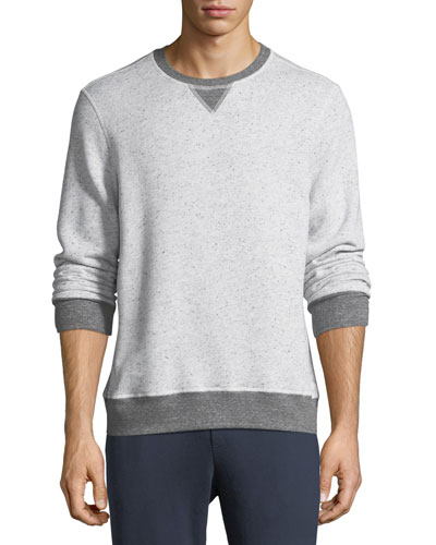 Peppered Fleece Pullover Sweater