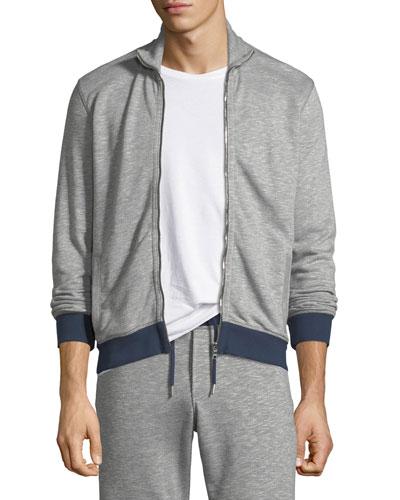 Kirke Contrast-Trim Zip-Front Jacket