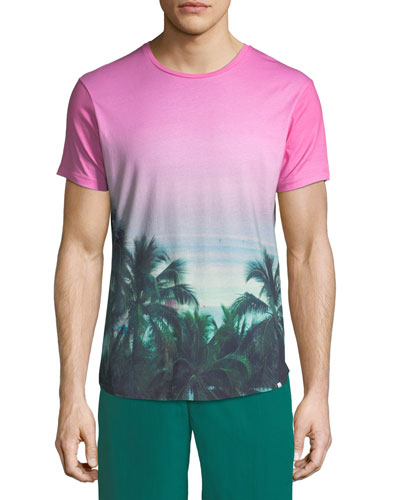 Photographic Palms Cotton T-Shirt