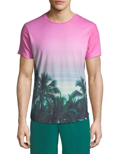 Photographic Palms Cotton T-Shirt