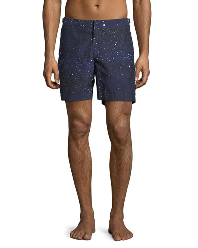 Bulldog Constellation Printed Swim Trunks