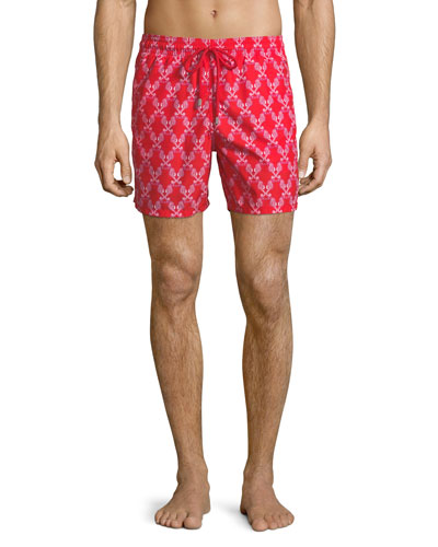 Moorea Sea Horse Love-Print Swim Trunks
