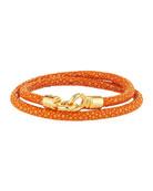Men's Stingray Wrap Bracelet, Orange/Golden