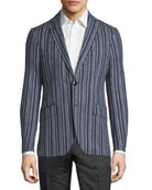 Striped Wool-Blend Sport Coat