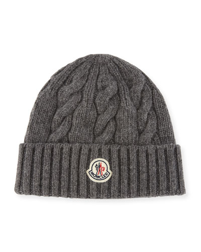 Men's Cable-Knit Wool Beanie Hat