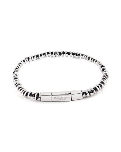 Men's Click-Clasp Beaded Bracelet