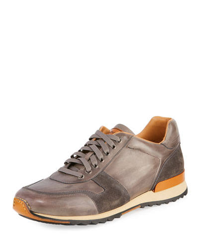 Retro Leather Running Sneaker
