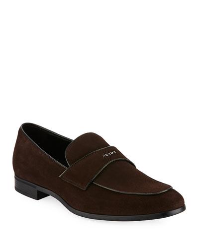 Suede Vitello Loafer