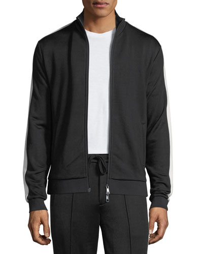 Side-Striped Zip-Front Jacket