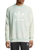 Trefoil Warm-Up Sweatshirt, Light Green